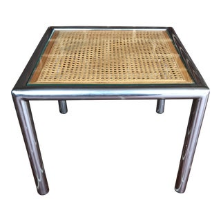Vintage Mid Century Milo Baughman Side Table For Sale