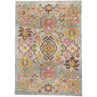 Contemporary Turkish Oushak Rug - 8′2″ × 11′7″ For Sale