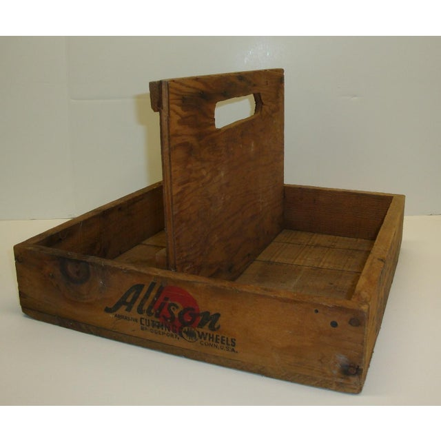 Early 20th Century Wood Crate Garden Decor Tool Caddy Organizer For Sale - Image 5 of 5