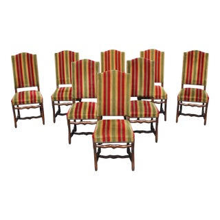 Set of 8 French Louis XIII Style Os De Mouton Dining Chairs 1900 Th Century.