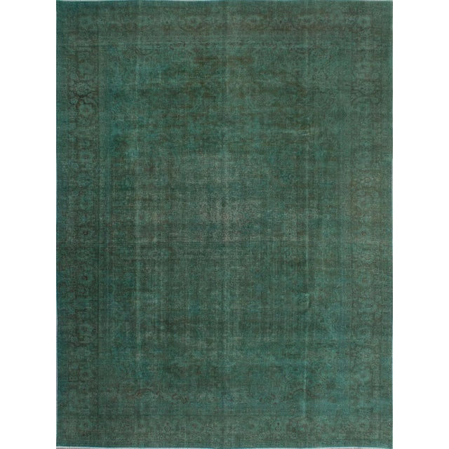 """Vintage Persian Overdyed Rug - 9'5"""" x 12'8"""" - Image 1 of 2"""