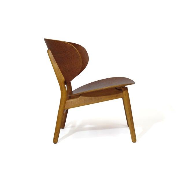 Mid-Century Modern Hans Wegner Teak Shell Chair Fh-1936 For Sale - Image 3 of 12