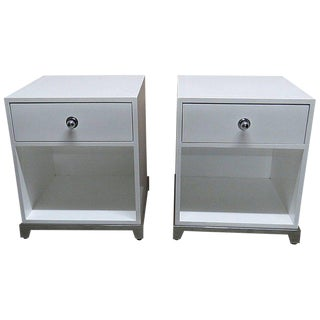 Pair of Modern Nightstands For Sale