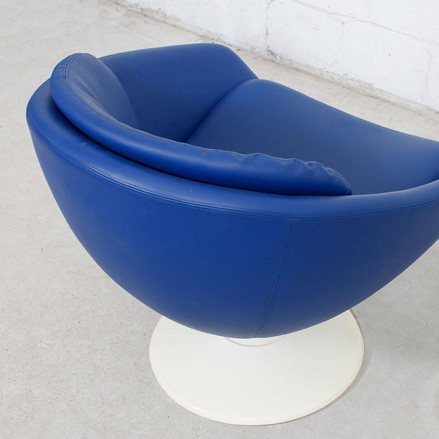 Blue 60s Swivel Pod Chair by Overman of Sweden - Image 6 of 10