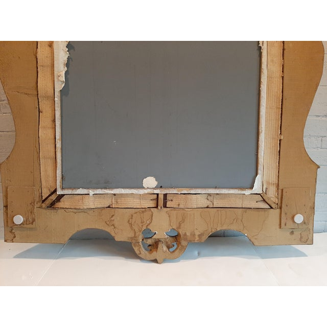 Gold Italian Florentine Gilt Wood Mirror For Sale - Image 8 of 10