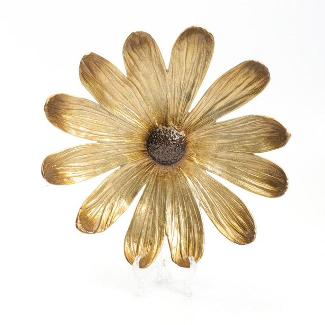 "Brown Michael Aram for Waterford ""Daisy Flower"" Enameled Aluminum Bowl For Sale - Image 8 of 8"