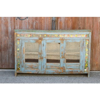 Antique Azure Colonial Tile & Glass Sideboard Preview