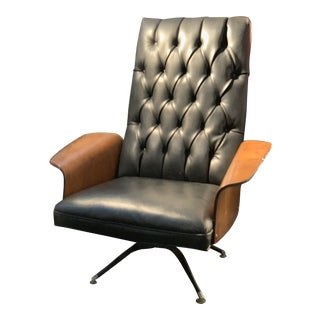 """Vintage Original Plycraft Swivel """"Mr. Chair"""" Lounger by George Mulhauser For Sale"""