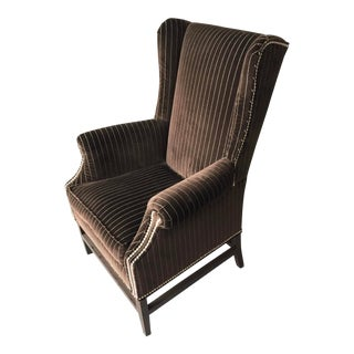Barclay Butera Wing Back Chair Velvet For Sale