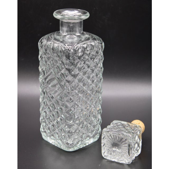 Glass Antique English Crystal Decanter For Sale - Image 7 of 13