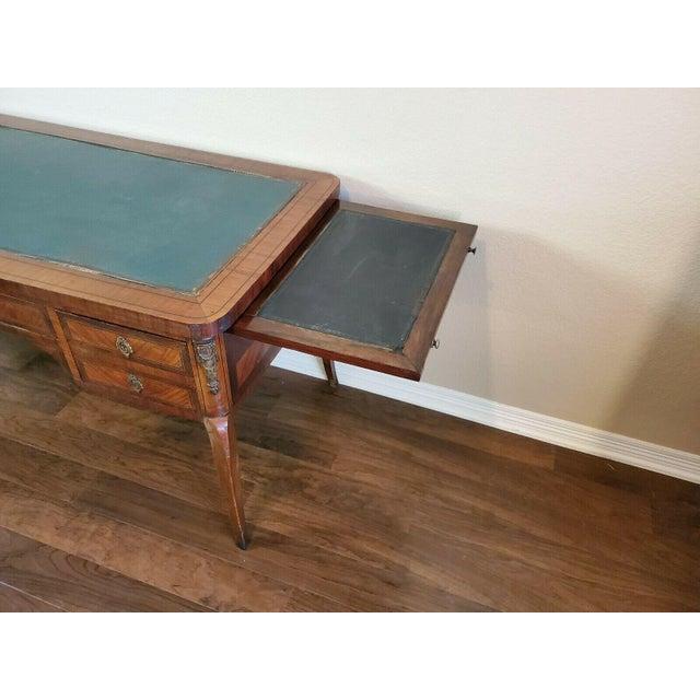 1920s French Louis XVI Bureau Plat Writing Desk For Sale - Image 11 of 13
