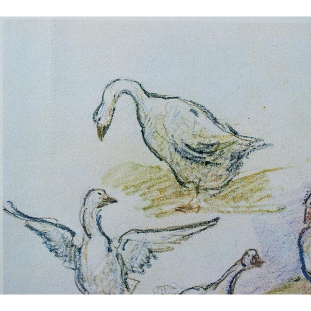 Asian 1959 Lithograph of Geese by Alfred Sisley For Sale - Image 3 of 11