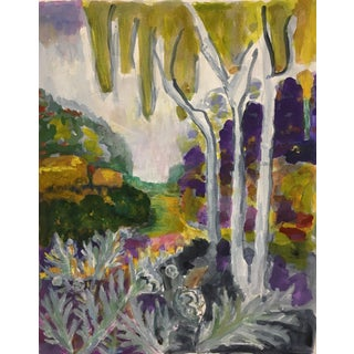 """2019 Contemporary Impressionist Painting, 'Landscape With Wild Artichokes Plants"""" by Carolyn Fox For Sale"""