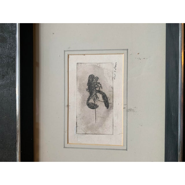 Nautical Framed Lobster Print For Sale - Image 3 of 6