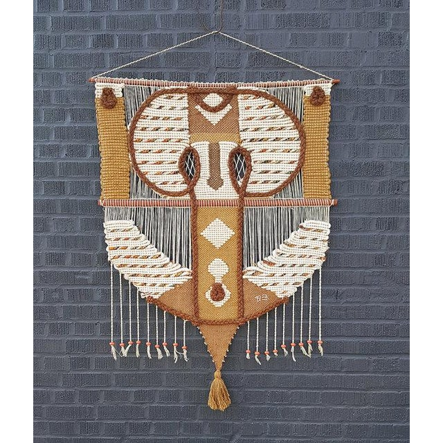 Don Freedman Large Original Fiber Textile Art Wall Hanging - Image 2 of 4