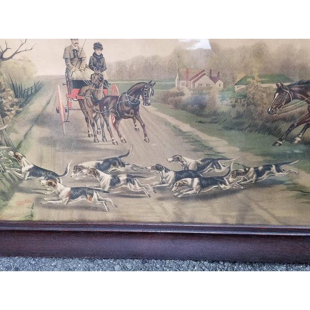 Antique English Hunting Framed Print For Sale - Image 9 of 13