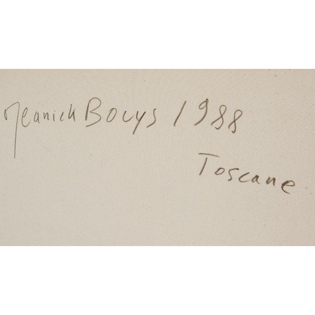 Artist: Jeanick Bouys, French (1950 - ) Title: Toscane II Year: 1988 Medium: Oil on Canvas, signed verso Size: 52 in. x 42...