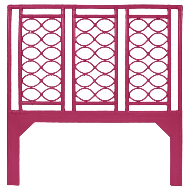 Coastal Infinity Headboard Queen - Bright Pink For Sale - Image 3 of 3