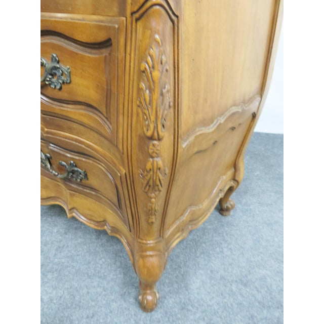 Wood French Vanleigh Carved Fruitwood Chest of Drawers For Sale - Image 7 of 11