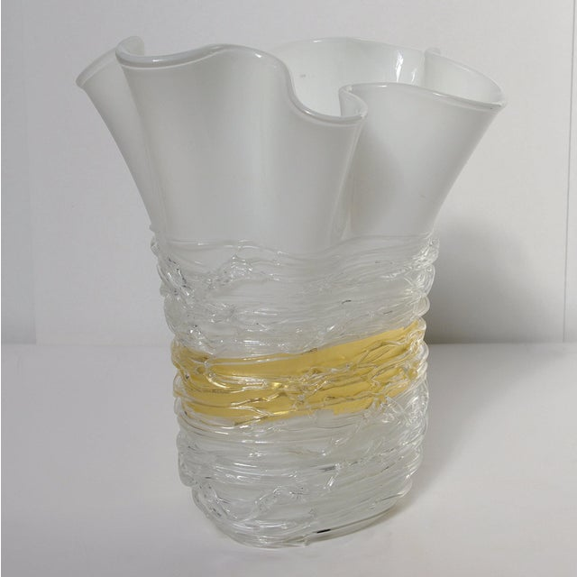 Italian Italian Murano Glass Vase by Camozzo For Sale - Image 3 of 9