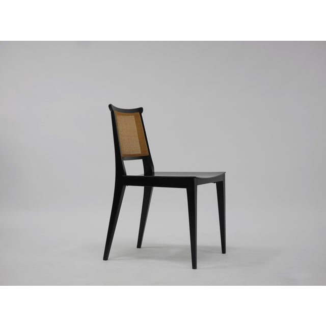 Caning Twelve Asian Dining Chairs by Edward Wormley for Dunbar For Sale - Image 7 of 11
