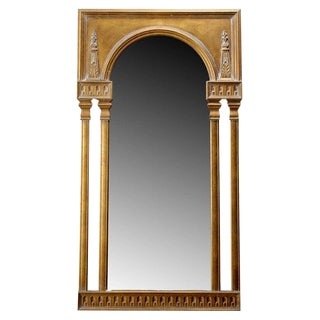 Unusual Gilt Neoclassical Style Mirror For Sale