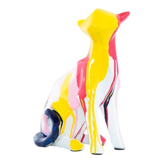 "Interior Illusions Plus Cat Splatter Art - 8.25"" tall For Sale"