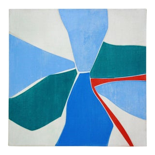 """Joanne Freeman """"Untitled #7"""" Abstract Colorful Painting on Canvas For Sale"""