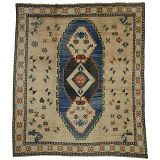 Antique Turkish Oushak Rug with Modern Style For Sale