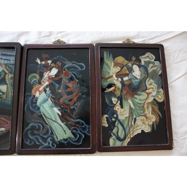 19th Century Reverse Paintings on Glass - Set of 4 - Image 5 of 5