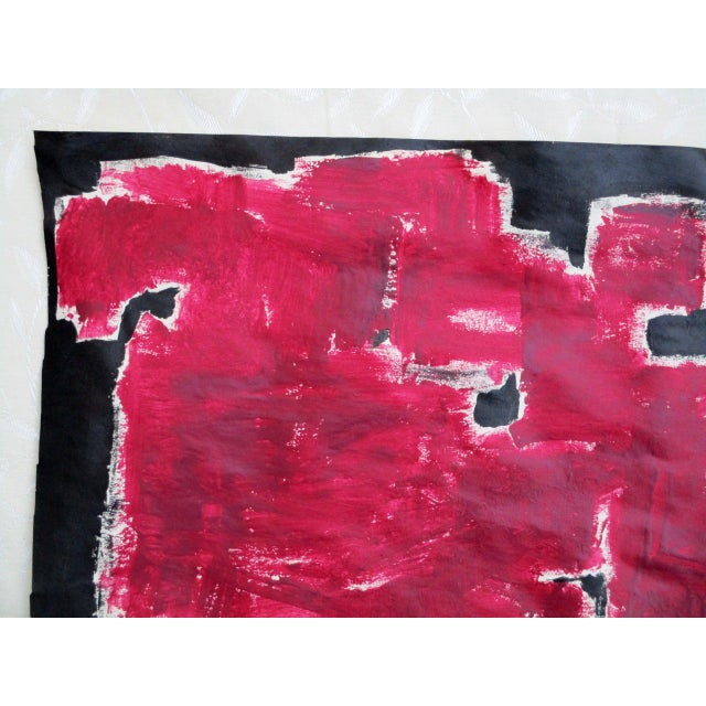 Alaina Bold Abstract Red Black Painting - Image 7 of 11