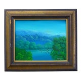"""Image of Late 20th Century Vintage Haitian """"Landscape"""" Oil Painting by Charles Dufranc For Sale"""