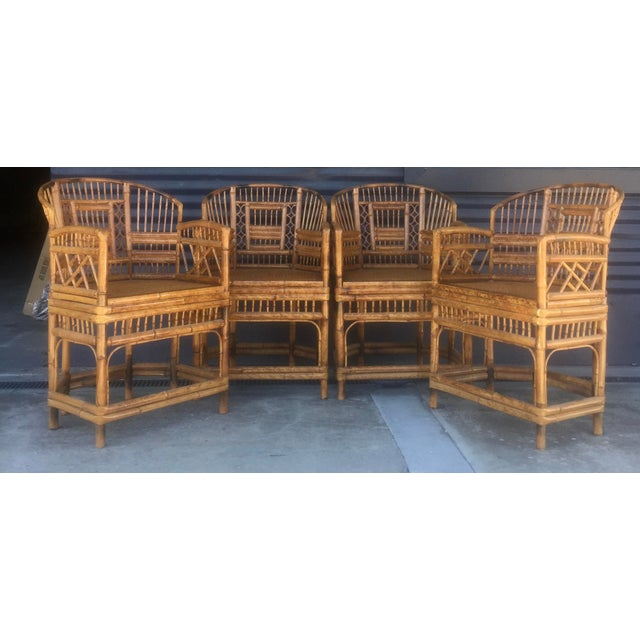 Vintage Brighton Style Rattan Chairs- Set of 4 - Image 9 of 9
