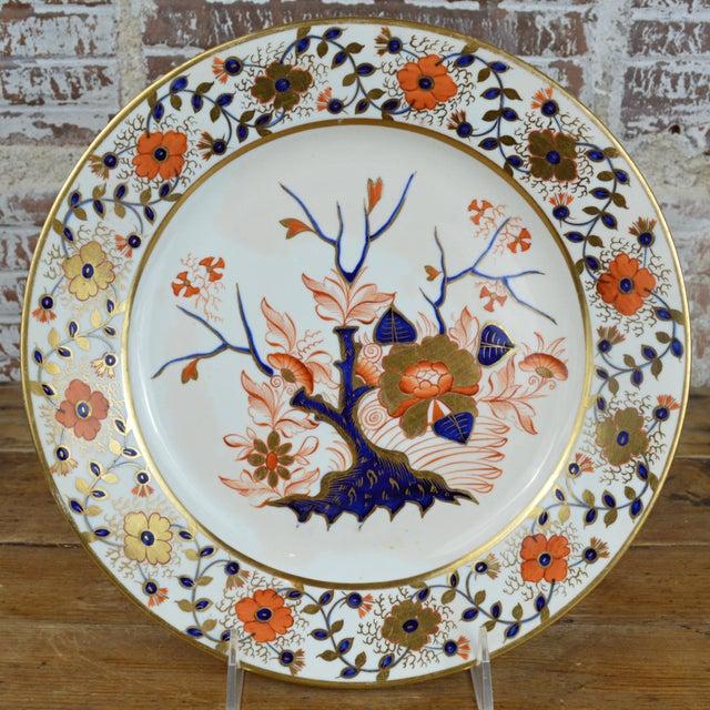 Blue Late Georgian Crown Derby Old Japan Porcelain Dinner Plate For Sale - Image 8 of 8