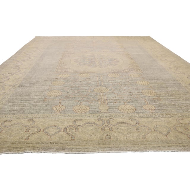 American Transitional Khotan Style Area Rug - 8'9 X 12'2 For Sale - Image 3 of 10