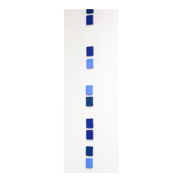 Contemporary Meditation of Blue Wall Sculpture by Elysia Vandenbussche For Sale