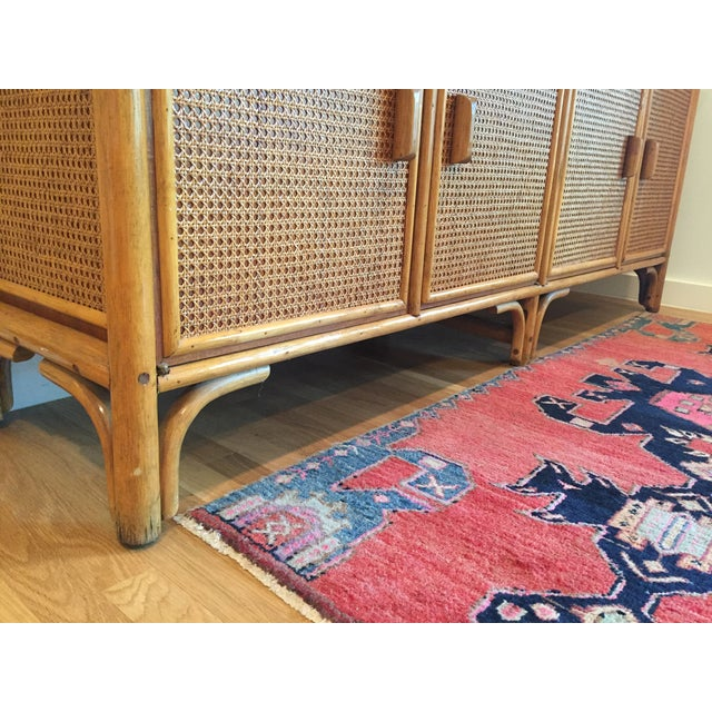 Vintage Rattan Buffet - Image 4 of 11