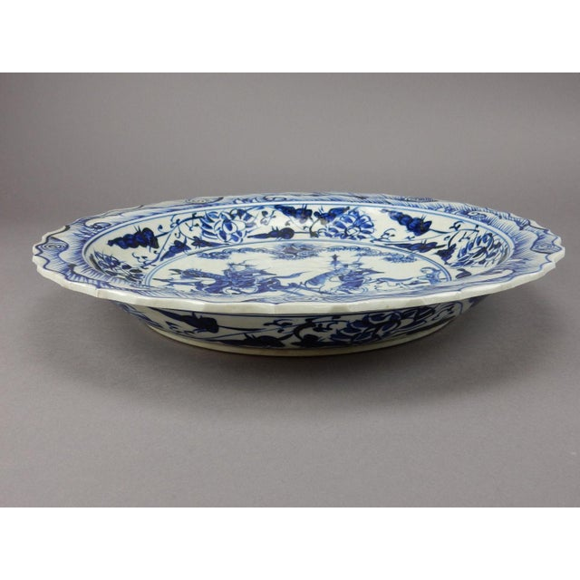 Qing Dynasty Antique Chinese Blue & White Center Bowl - Image 11 of 11