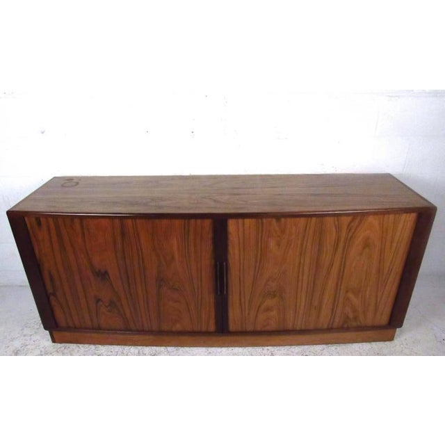 H.P. Hansen Danish Rosewood Tambour Server For Sale In New York - Image 6 of 11