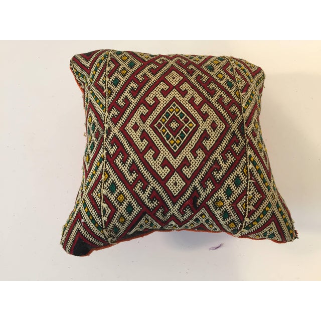 Mid 20th Century Moroccan Berber Tribal Throw Pillow For Sale - Image 5 of 5