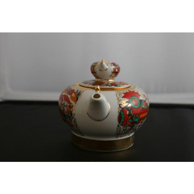 Boho Chic Russian Lomonsov Porcelain Rooster Teapot For Sale - Image 3 of 7