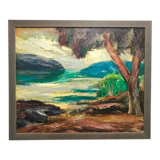 "1930s ""Sheltered Inlet"" Painting by Walter A. Bailey For Sale"