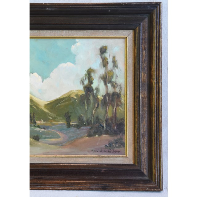 Canvas David A. Wilson Plein Air California Landscape Oil Painting For Sale - Image 7 of 10