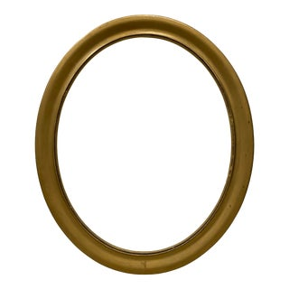 Early 20th Century Gold Painted Oval Frame For Sale