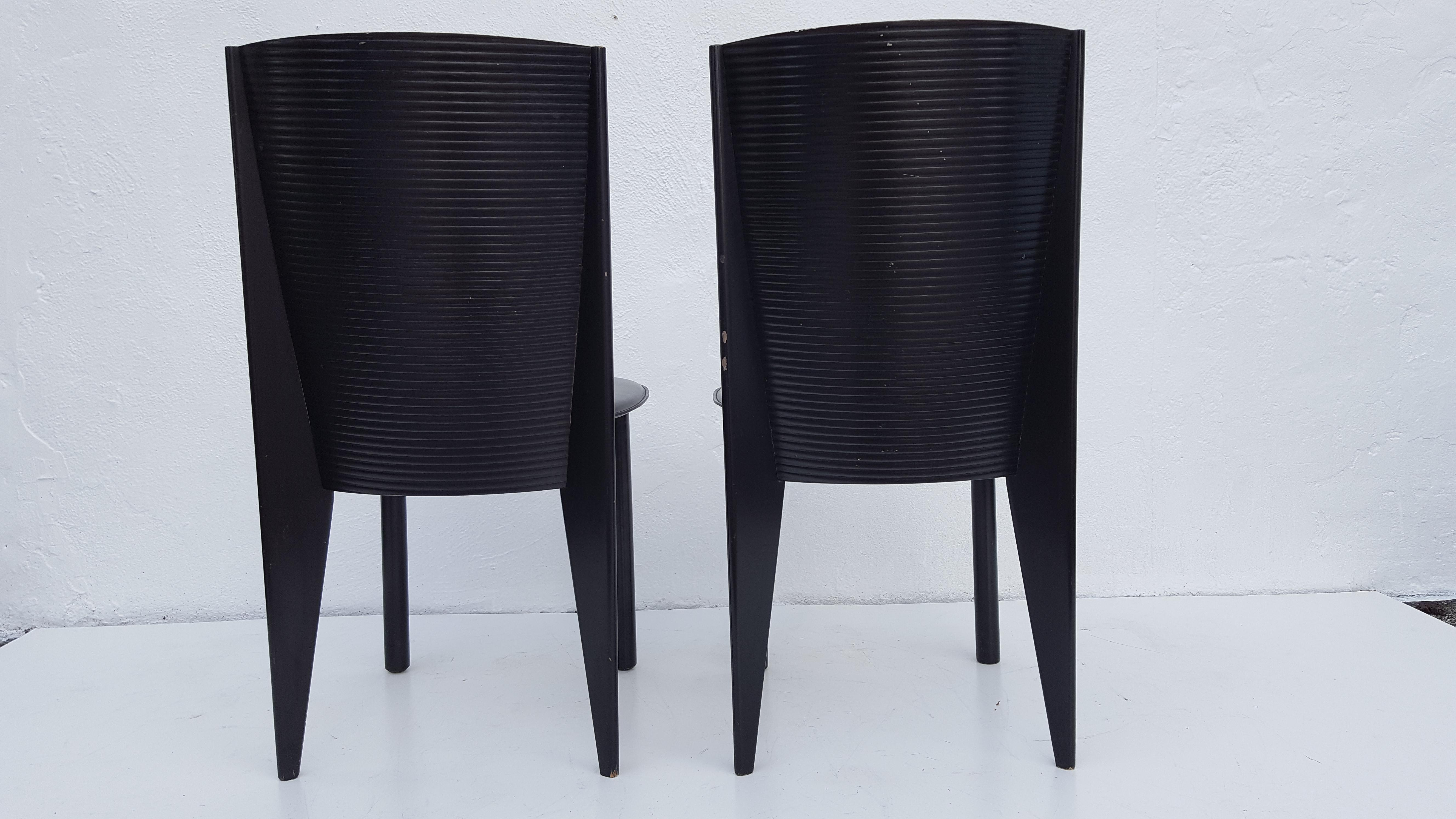 Calligaris Italian Set Of Four Dining Chairs By Calligaris For Sale   Image  4 Of 11
