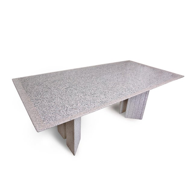 Enrico Baleri for Knoll Studio Mega Table, circa early 1980s, in polished and honed Sardinian Beta granite. The design's...