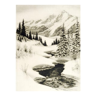Jerry Albright Colorado Winter Etching