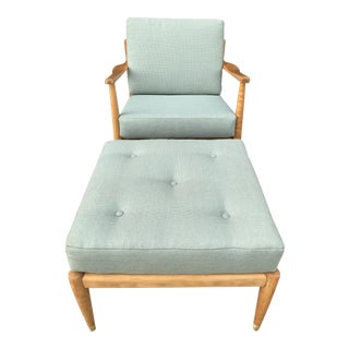 Mid century lounge chair and ottoman by Dux
