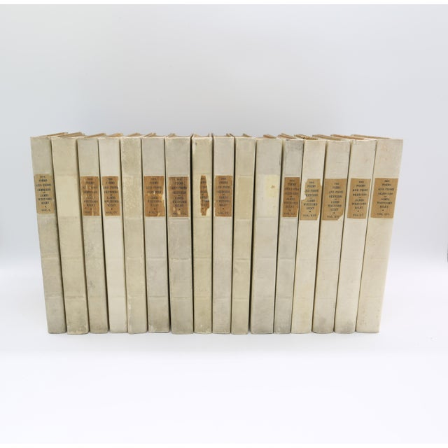 Published in 1902 with a much earlier copyright, this is a beautiful patinated set of leather bound, wood covered books....