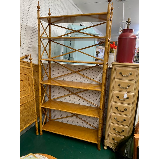 1960s Mid-Century Modern Bamboo Etagere For Sale - Image 5 of 5